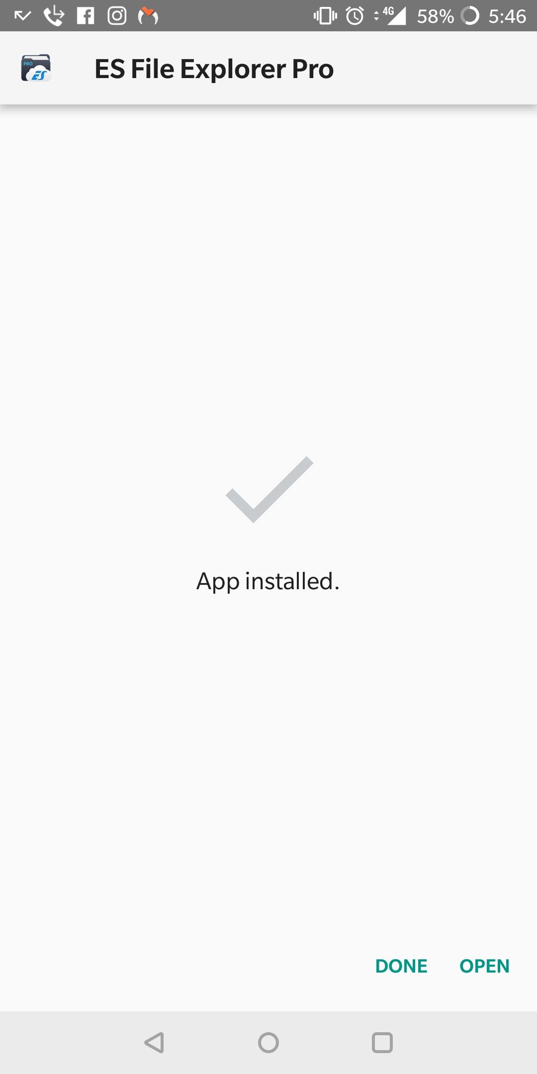 ES File Explorer Installed